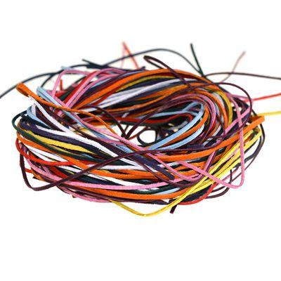 50 Stk 90cm Lederband Lederschnur eckig 3x1mm Farbwahl verschiedene Farben