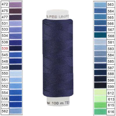 100m / 1 Spule Unipoly 120 TEX14x2 Polyester Nähgarn Artikel 3v6 Farbwahl – Bild 8