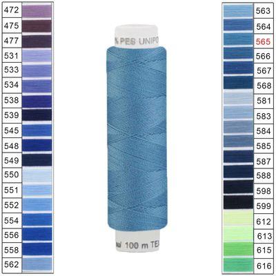 100m / 1 Spule Unipoly 120 TEX14x2 Polyester Nähgarn Artikel 3v6 Farbwahl – Bild 21