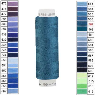 100m / 1 Spule Unipoly 120 TEX14x2 Polyester Nähgarn Artikel 3v6 Farbwahl – Bild 23