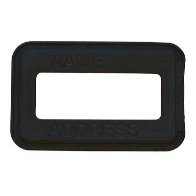 5 Adressaufnäher 88x54mm für Tasche Koffer Etiketten Schilderrahmen Adresshülse – Bild 1
