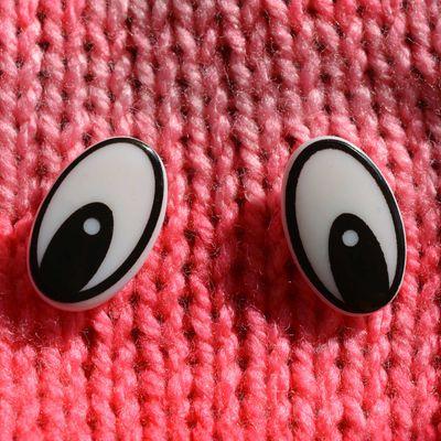 20 Paar / 40 Stk Augen Kunststoff 25x16mm zum Einkleben, Puppe Figuren Teddy – Bild 3
