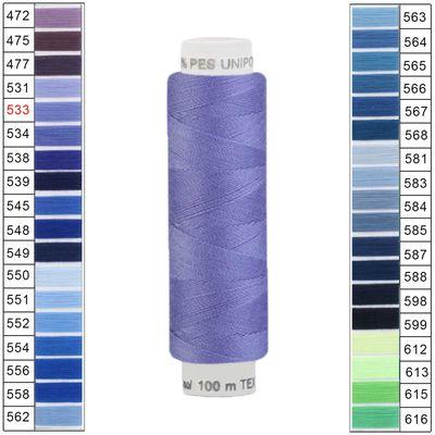 10 x 100m / 10 Spulen Unipoly 120 TEX14x2 Polyester Nähgarn Artikel 3v6 Farbwahl – Bild 5