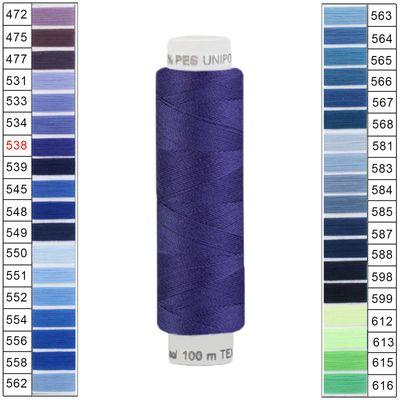 10 x 100m / 10 Spulen Unipoly 120 TEX14x2 Polyester Nähgarn Artikel 3v6 Farbwahl – Bild 7