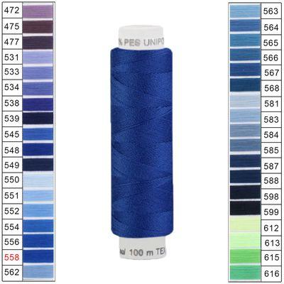 10 x 100m / 10 Spulen Unipoly 120 TEX14x2 Polyester Nähgarn Artikel 3v6 Farbwahl – Bild 17
