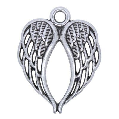 50 Engelsflügel 22x17mm Loch 2mm, Farbwahl - Metall Zierperlen Engel Flügel – Bild 2