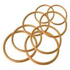 2 Holz Bambus-Ringe Taschengriffe Traumfänger-Ringe, Größenwahl naturfarben 001