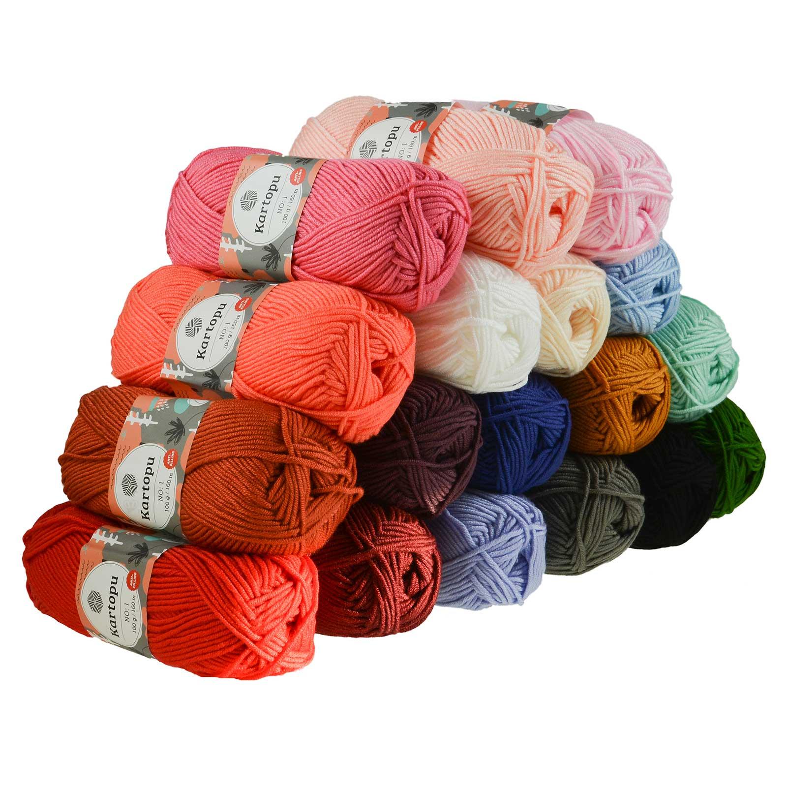 Mengen und Farbe frei w/ählbar 2236 weinrot Color Kartopu Filzwolle 100gr Knaul,Uni+Color,100m Laufl/änge 100/% Schurwolle