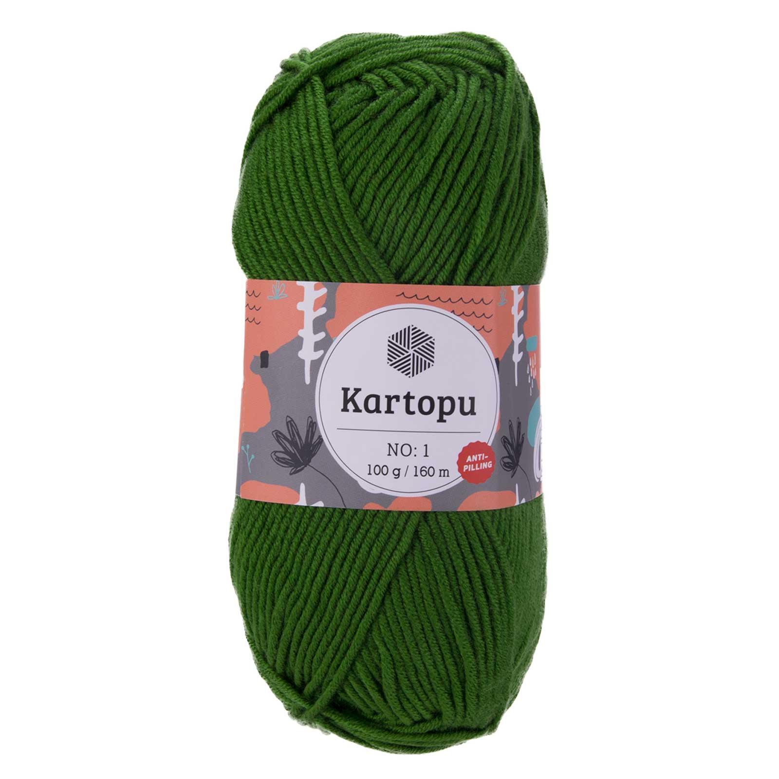 100g Strickwolle Kartopu NO:1 Polyacryl-Strickgarn Wolle Anti Pilling Effekt – Bild 9