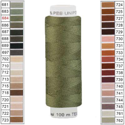 100m / 1 Spule Unipoly 120 TEX14x2 Polyester Nähgarn Artikel 5v6 Farbwahl – Bild 3