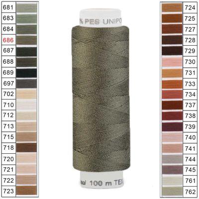 100m / 1 Spule Unipoly 120 TEX14x2 Polyester Nähgarn Artikel 5v6 Farbwahl – Bild 4