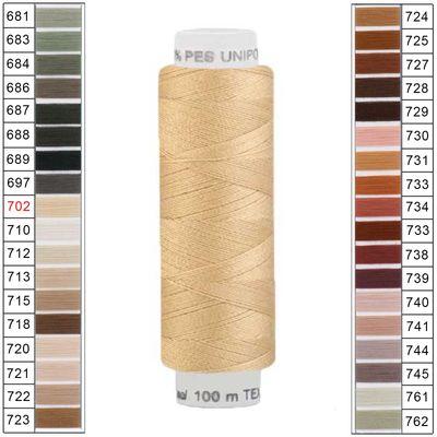 100m / 1 Spule Unipoly 120 TEX14x2 Polyester Nähgarn Artikel 5v6 Farbwahl – Bild 9