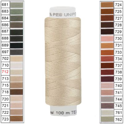 100m / 1 Spule Unipoly 120 TEX14x2 Polyester Nähgarn Artikel 5v6 Farbwahl – Bild 11