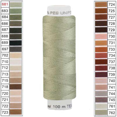 10 x 100m / 10 Spulen Unipoly 120 TEX14x2 Polyester Nähgarn Artikel 5v6 Farbwahl