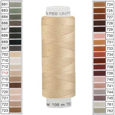 10 x 100m / 10 Spulen Unipoly 120 TEX14x2 Polyester Nähgarn Artikel 5v6 Farbwahl – Bild 12