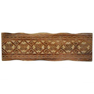 1 Holz Wanddekoration Antik beschnitzt 60x20cm Echtholz Variante wählbar – Bild 2