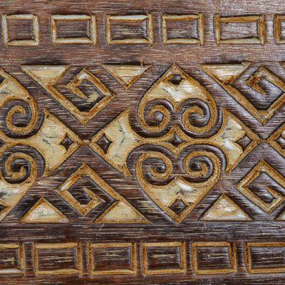 1 Holz Wanddekoration Antik beschnitzt 60x20cm Echtholz Variante wählbar – Bild 6