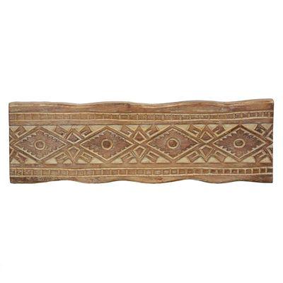 1 Holz Wanddekoration Antik beschnitzt 60x20cm Echtholz Variante wählbar – Bild 7