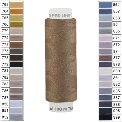 100m / 1 Spule Unipoly 120 TEX14x2 Polyester Nähgarn Artikel 6v6 Farbwahl – Bild 7