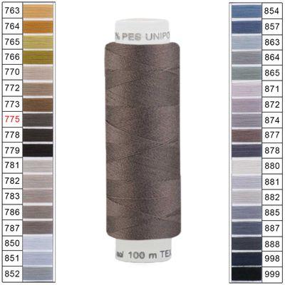 100m / 1 Spule Unipoly 120 TEX14x2 Polyester Nähgarn Artikel 6v6 Farbwahl – Bild 8