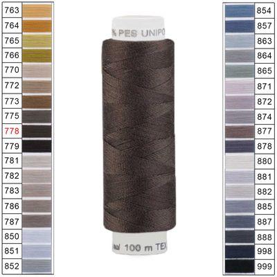 100m / 1 Spule Unipoly 120 TEX14x2 Polyester Nähgarn Artikel 6v6 Farbwahl – Bild 9