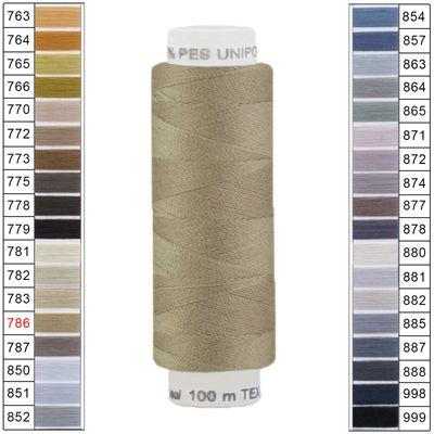 100m / 1 Spule Unipoly 120 TEX14x2 Polyester Nähgarn Artikel 6v6 Farbwahl – Bild 14