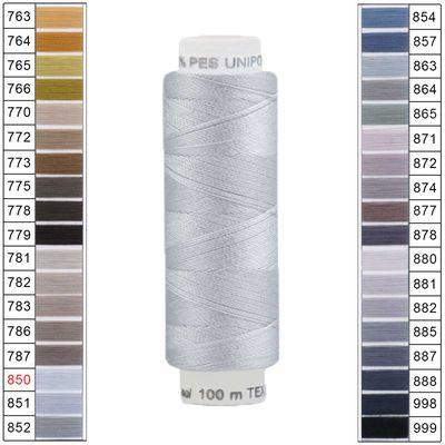100m / 1 Spule Unipoly 120 TEX14x2 Polyester Nähgarn Artikel 6v6 Farbwahl – Bild 16