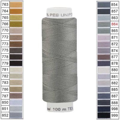 100m / 1 Spule Unipoly 120 TEX14x2 Polyester Nähgarn Artikel 6v6 Farbwahl – Bild 22