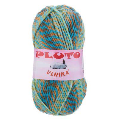 100g Strickgarn PLUTO Strick-Wolle mehrfarbig bunt Handstrickgarn Flauschig Farbwahl – Bild 2