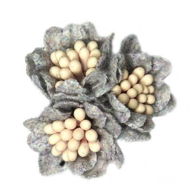 2 Textilblüten Blume dekorative Blüte mit Staubblättern Deko, Größen Farbwahl – Bild 13