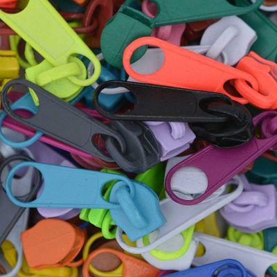100 Reißverschluss Zipper Schieber für Endlosreißverschluss, 5mm, Farbwahl  – Bild 2