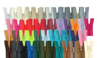 2 Reißverschlüsse spiral 80cm x 5mm teilbar, Autolock, Farbwahl  – Bild 1