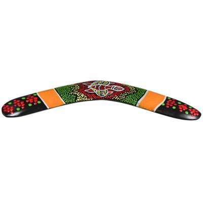 1 Deko Bumerang Holz ca. 30cm Dotpaint-Design Holz-Bumerang Boomerang Dekoration – Bild 4