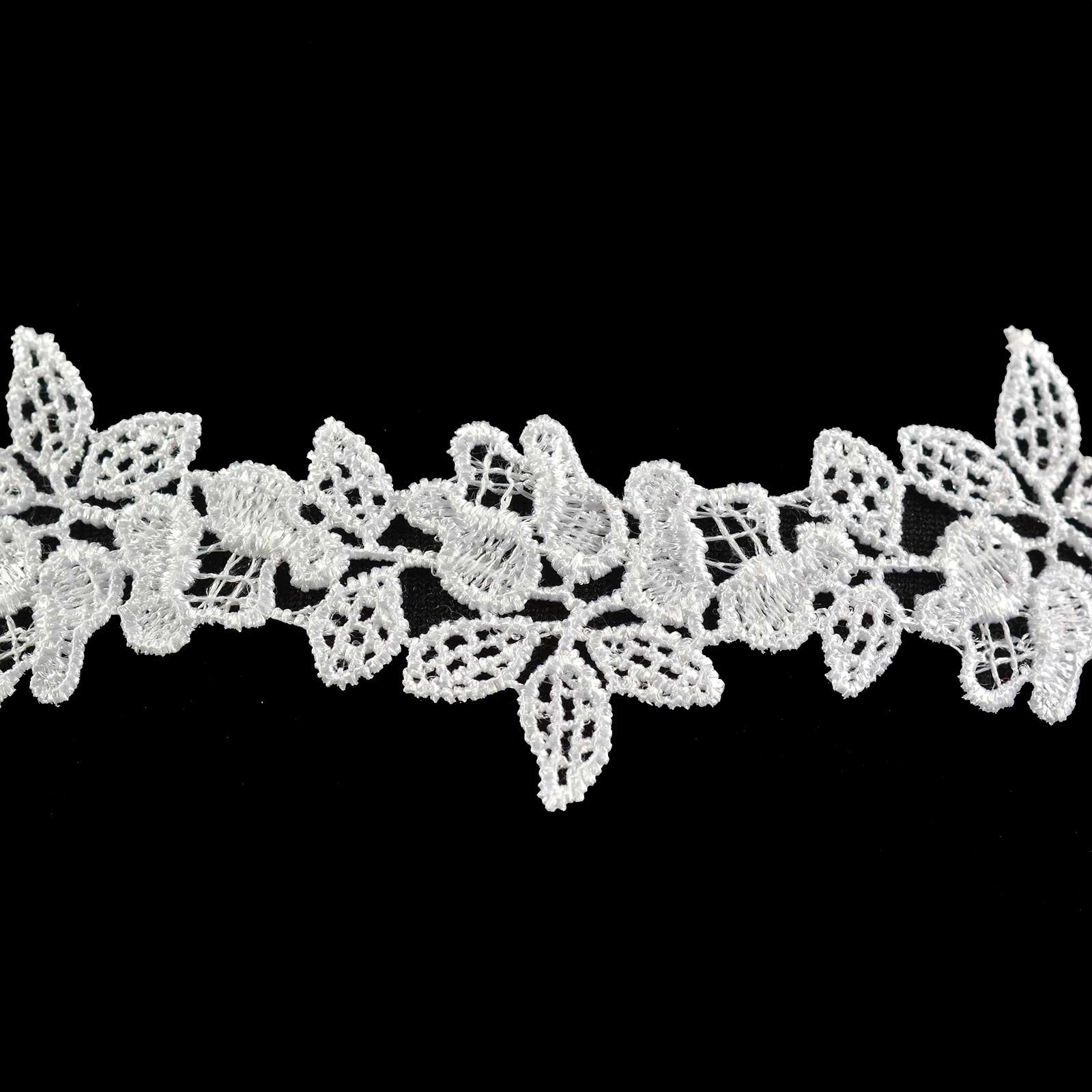 1m / Meterware Ätzspitze 50mm Blumendesign Spitzenborte Tischläufer, Größen Farbwahl – Bild 4