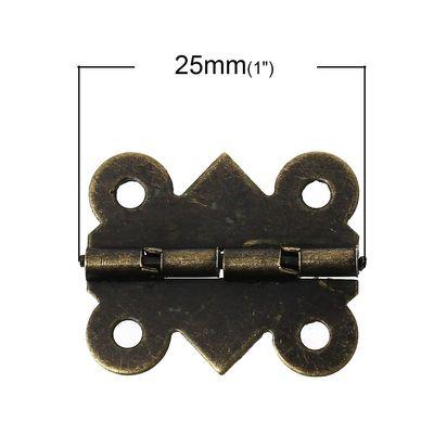 50 Scharniere Minischarniere 25x20mm, Farbwahl - Bandscharnier Metall-Scharnier – Bild 3