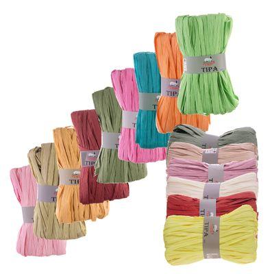 50g / 80m Tipa Raffia Papierschnur Papiergarn Dekoband Papierband Farbwahl