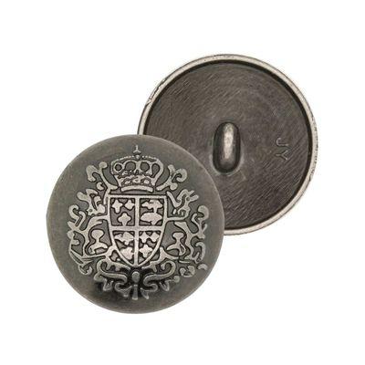 10 Metallknöpfe Ösenknopf Wappen rund Ø23mm Farbwahl - Uniform Jacke Mantel Fasching – Bild 2