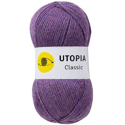 100g Strickgarn Utopia Classic Uni Strickwolle Handstrickgarn Klassikgarn, Farbwahl – Bild 19