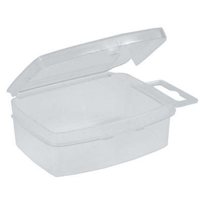 12 Verpackung Behälter Sortierbox aus Kunststoff 3,5x5x2cm mit Aufhängung – Bild 1