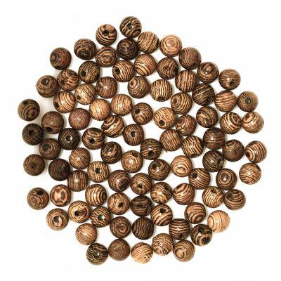 200 Holzperlen 6mm Brauntöne Farbwahl - Perle Holz Schmuckperle Bastelperle – Bild 2