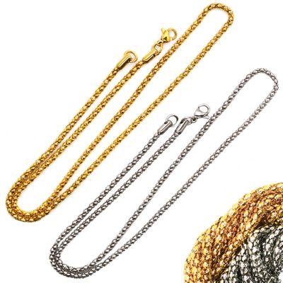1 Edelstahl Halskette 45cm lang , Farbwahl - Kette Hals Arm Fuß Verzierung – Bild 1