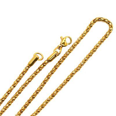 1 Edelstahl Halskette 45cm lang , Farbwahl - Kette Hals Arm Fuß Verzierung – Bild 4