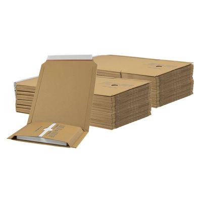 1 Pack Kartonagen Buchverpackung 245x165x20-70 braun - Verpackung Faltkarton – Bild 8