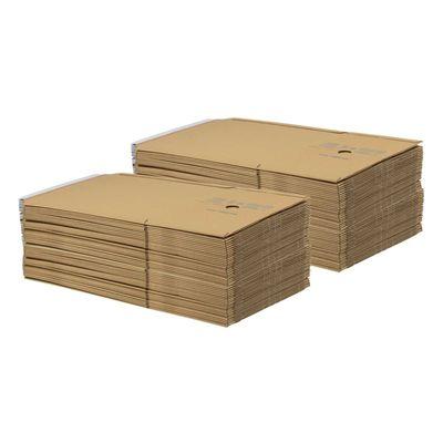 1 Pack Kartonagen Buchverpackung 245x165x20-70 braun - Verpackung Faltkarton – Bild 9