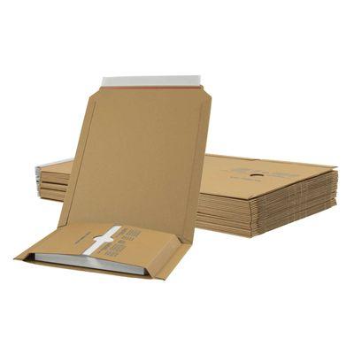 1 Pack Kartonagen Buchverpackung 245x165x20-70 braun - Verpackung Faltkarton – Bild 4