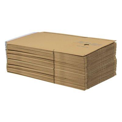 1 Pack Kartonagen Buchverpackung 245x165x20-70 braun - Verpackung Faltkarton – Bild 7