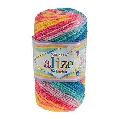 100g Strickgarn ALIZE SEKERIM BEBE BATIK Strick-Wolle Babywolle Häkelgarn Farbwahl – Bild 2