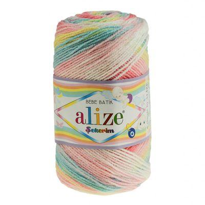 100g Strickgarn ALIZE SEKERIM BEBE BATIK Strick-Wolle Babywolle Häkelgarn Farbwahl – Bild 4