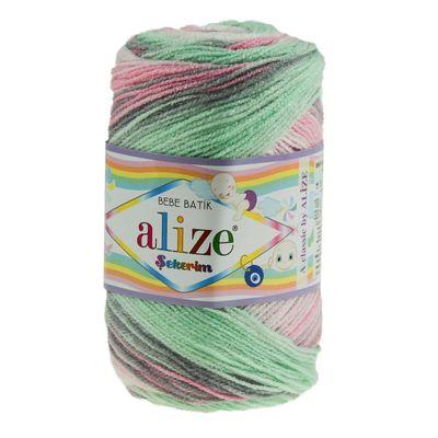 100g Strickgarn ALIZE SEKERIM BEBE BATIK Strick-Wolle Babywolle Häkelgarn Farbwahl – Bild 6