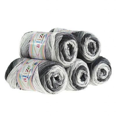 5 x 100g Strickgarn ALIZE SEKERIM BEBE BATIK Strick-Wolle Babywolle Häkelgarn Farbwahl – Bild 10